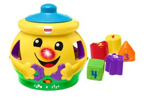 Cookie Shape Surprise, Laugh and Learn Shape Sorter Baby Learning Toy with Numbers, Colours and Music