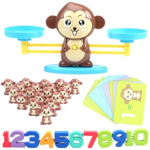 Board Game Monkey Match Math Balancing Scale Toy Educational Mathematic Tool Educational Toy for Children Enlightenment Digital Addition and Subtraction
